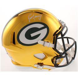 Brett Favre Signed LE Green Bay Packers Full-Size Chrome Speed Helmet (JSA COA  Radtke COA)