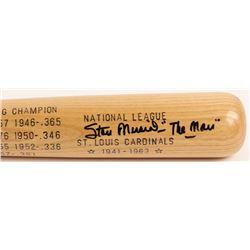 "Stan Musial Signed LE Louisville Slugger Career Highlight Stat Baseball Bat Inscribed ""The Man"" (JSA"