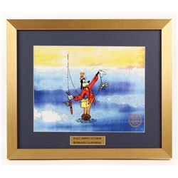 "Walt Disney's Goofy ""How to Fish"" 16x19 Custom Framed Animation Serigraph Display"