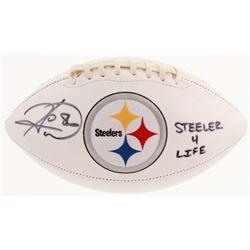 "Hines Ward Signed Pittsburgh Steelers Logo Football Inscribed ""Steeler 4 Life"" (JSA COA)"