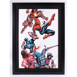 """Stan Lee Signed """"Marvel Knights: Spider-Man #2"""" Limited Edition 28.5x39.25 Custom Framed Giclee on C"""