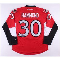 "Andrew Hammond Signed Ottawa Senators Jersey Inscribed ""The Hamburglar"" (Hammond COA)"