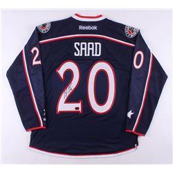 Brandon Saad Signed Columbus Blue Jackets Jersey (Saad COA)