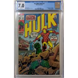 """1970 """"The Incredible Hulk"""" Issue #131 Marvel Comic Book (CGC 7.0)"""