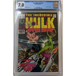 """1970 """"The Incredible Hulk"""" Issue #125 Marvel Comic Book (CGC 7.0)"""