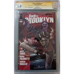 "Garth Ennis  Jimmy Palmiotti Signed 2009 ""Back to Brooklyn"" Issue #3 Image Comic Book (CGC Encapsula"