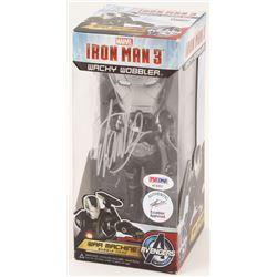 "Stan Lee Signed ""Iron Man 3"" War Machine Marvel Funko Wacky Wobbler Bobble-Head (PSA COA  Lee Hologr"