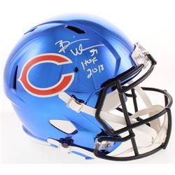 """Brian Urlacher Signed Chicago Bears Full-Size Chrome Speed Helmet Inscribed """"HOF 2018"""" (JSA Hologram"""