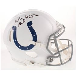 Marlon Mack Signed Indianapolis Colts Full-Size Authentic On-Field Speed Helmet (Beckett COA)