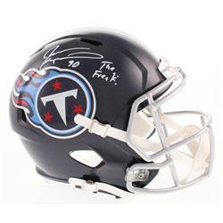 "Jevon Kearse Signed Tennessee Titans Full-Size Speed Helmet Inscribed ""The Freak!"" (Beckett COA)"