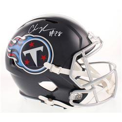 Chris Johnson Signed Tennessee Titans Full-Size Speed Helmet (Beckett COA)