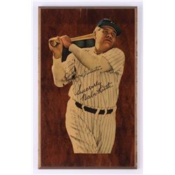 Babe Ruth New York Yankees 9.5x15.5 Wooden Plaque Display with Hand-Written Personalization (PSA LOA