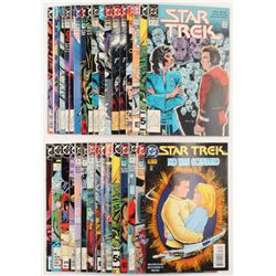 "Lot of (34) 1984 - 1993 Vintage ""Star Trek"" DC Comic Books"