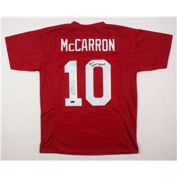 "AJ McCarron Signed Jersey Inscribed ""36-4 Career Record"" (Radtke COA)"