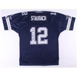"Roger Staubach Signed Dallas Cowboys Jersey Inscribed ""HOF '85""  (Beckett COA)"