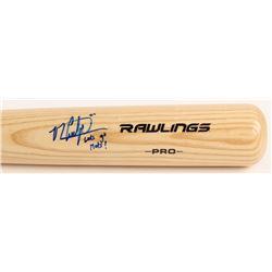 "Michael Conforto Signed Rawlings Pro Baseball Bat Inscribed ""Let's Go Mets!"" (PSA Hologram)"