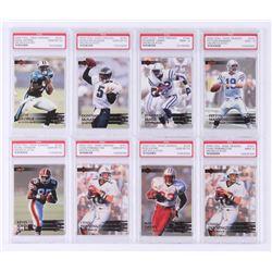 Lot of (8) 2000 Collector's Edge EG Football Cards with #150 Peyton Manning (PSA 9), #134 Donovan Mc