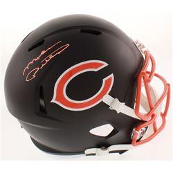 Mike Ditka Signed Chicago Bears Full-Size Flat Matte Black Speed Helmet (Schwartz COA)