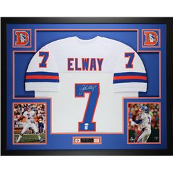 John Elway Signed 35x43 Custom Framed Jersey (JSA COA)
