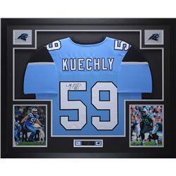 Luke Kuechly Signed 35x43 Custom Framed Jersey (JSA COA)