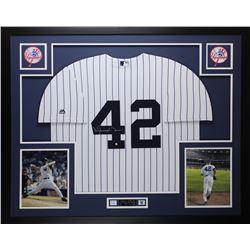 Mariano Rivera Signed 35x43 Custom Framed Jersey Display (Steiner COA)