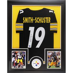 JuJu Smith-Schuster Signed 34x42 Custom Framed Jersey (Radtke COA)
