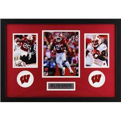 Melvin Gordon Signed Wisconsin Badgers 18x27 Custom Framed Photo Display (Radtke COA)