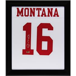Joe Montana Signed 23x27 Custom Framed Jersey (Radtke COA)