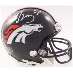 Ed McCaffrey Signed Devner Broncos Mini Helmet (JSA COA)