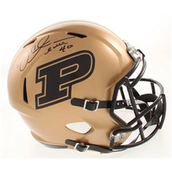 Mike Alstott Signed Purdue Boilermakers Full-Size Speed Helmet (JSA COA)