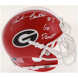 "Deandre Swift Signed Georgia Bulldogs Mini Helmet Inscribed ""Go Dawgs"" (JSA COA)"
