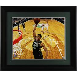 Giannis Antetokounmpo Signed Milwaukee Bucks 23x27 Custom Framed Photo Display (JSA COA)
