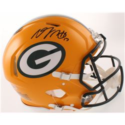 Davante Adams Signed Packers Full-Size Authentic On Field Speed Helmet (Beckett COA)