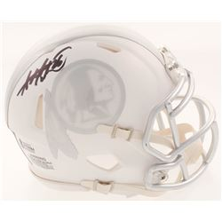 Adrian Peterson Signed Washington Redskins White ICE Mini Speed Helmet (Beckett COA)