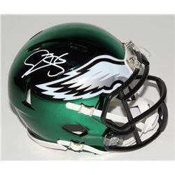 Donovan McNabb Signed Philadelphia Eagles Chrome Speed Mini-Helmet (JSA COA)