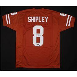 """Jordan Shipley Signed Jersey Inscribed """"Hook Em"""" (JSA COA  GTSM Hologram)"""