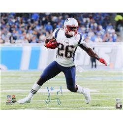 Sony Michel Signed New England Patriots 16x20 Photo (Beckett COA)