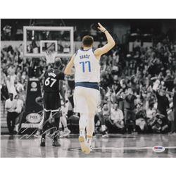 Luka Doncic Signed Dallas Mavericks 11x14 Photo (PSA COA)