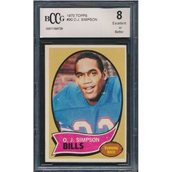 1970 Topps #90 O. J. Simpson RC (BCCG 8)