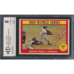 1961 Topps #307 Mickey Mantle (BCCG 8)