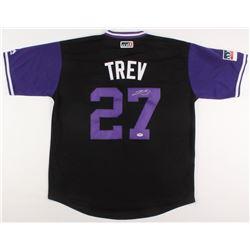 Trevor Story Signed Colorado Rockies Jersey (PSA COA)