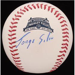 Jorge Soler Signed Wrigley Field 100 Year Anniversay OML Baseball (PSA Hologram)