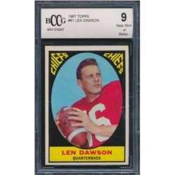 1967 Topps #61 Len Dawson RC (BCCG 9)