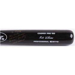 "Matt Williams Signed Cooper Pro Player Model M110 Baseball Bat Inscribed ""My Idol. It Is A Pleasure"