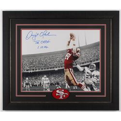 "Dwight Clark Signed San Francisco 49ers 23.5x27.5 Custom Framed Photo Display Inscribed ""The Catch"""