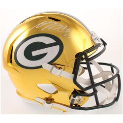 Davante Adams Signed Green Bay Packers Full-Size Chrome Speed Helmet (Beckett Hologram)