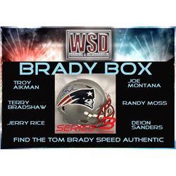 "WSD ""Brady Box"" Mystery Full-Size Helmet Box - Autographed Football Hemet Series (Find the Tom Brady"