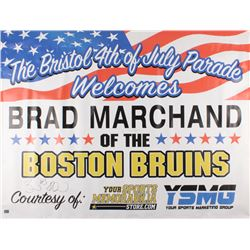 Brad Marchand Signed Boston Bruins 35x47 Bristol 4th Of July Appearance Banner (Marchand Hologram)
