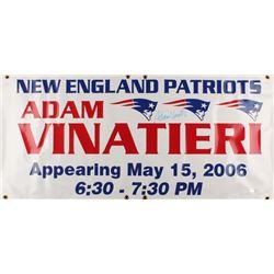 Adam Vinatieri Signed New England Patriots 21.75x47.5 YSMS Promo Banner (YSMS COA)