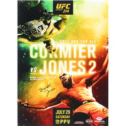 "Jon ""Bones"" Jones Signed UFC 214 Fight Poster vs. Cormier 16x22 Photo (PSA COA)"